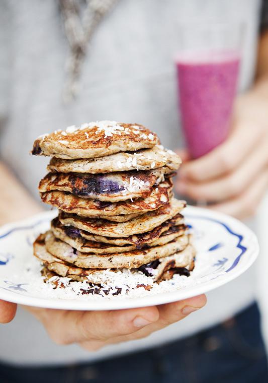 Flour free Banana & Blueberry Pancakes