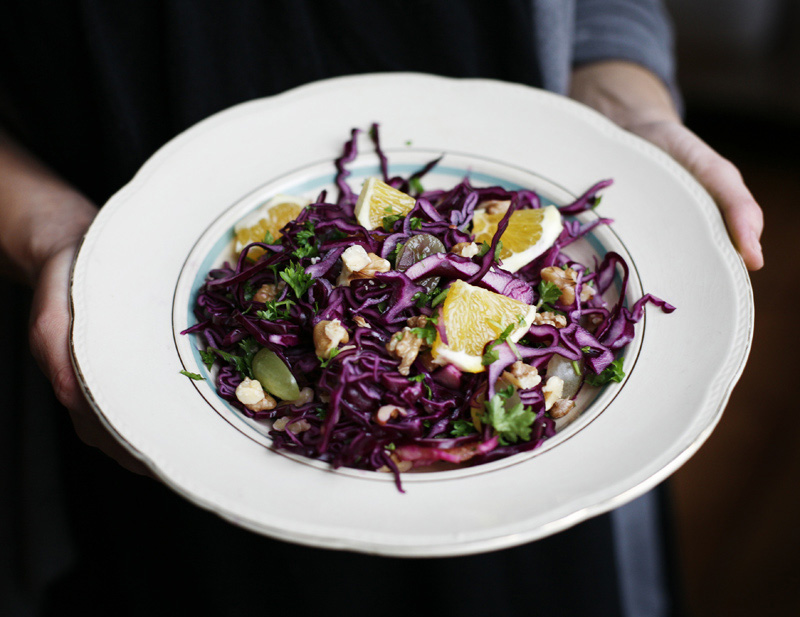 Crispy Red Cabbage Salad