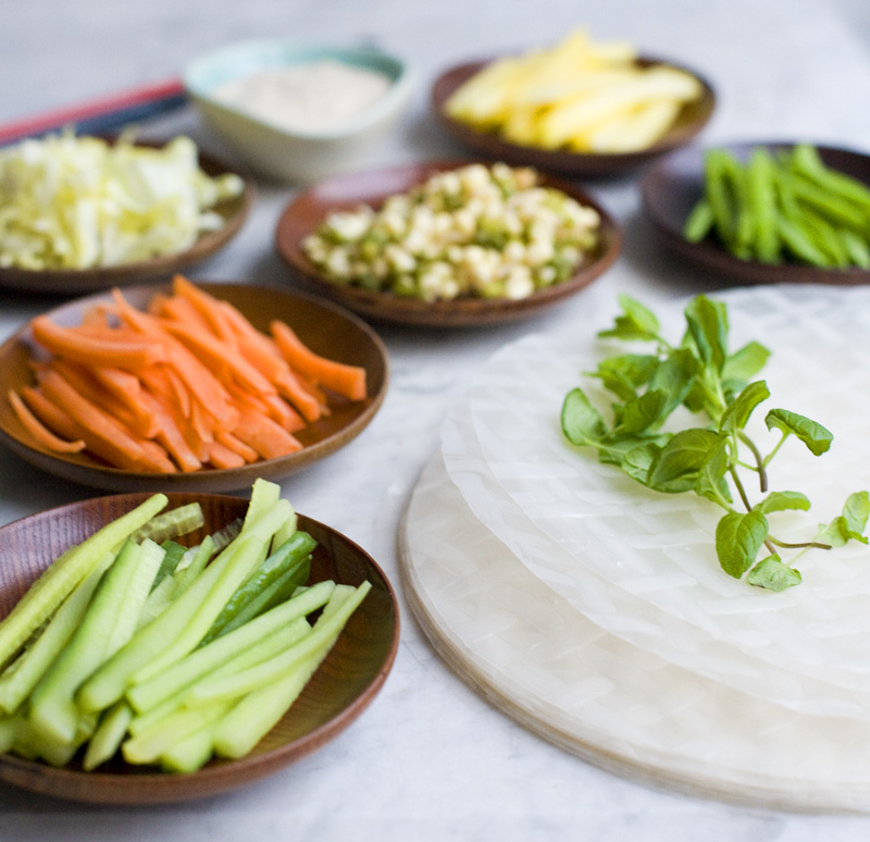 How To Make Fresh Spring Rolls Prepare Ingredients | Party Invitations ...