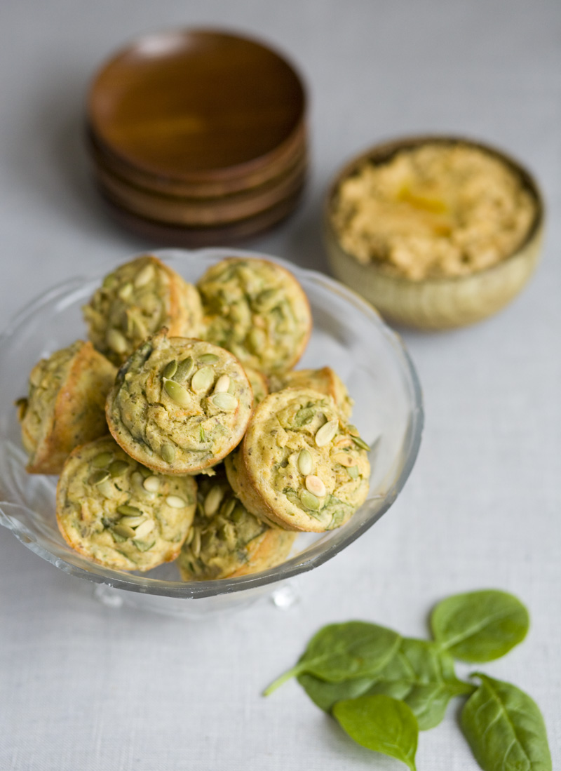 gluten free spinach and carrot muffins makes 12 small muffins