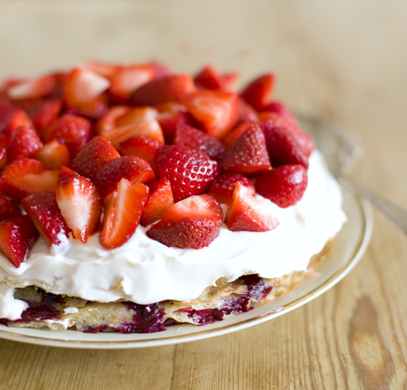 Strawberry Pancake Cake