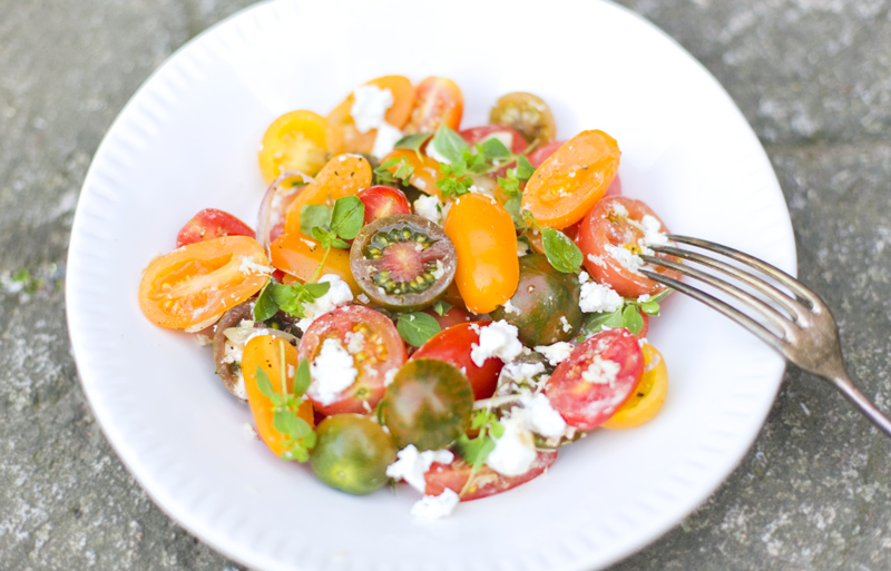 Heirloom Tomato & Goat Cheese Salad