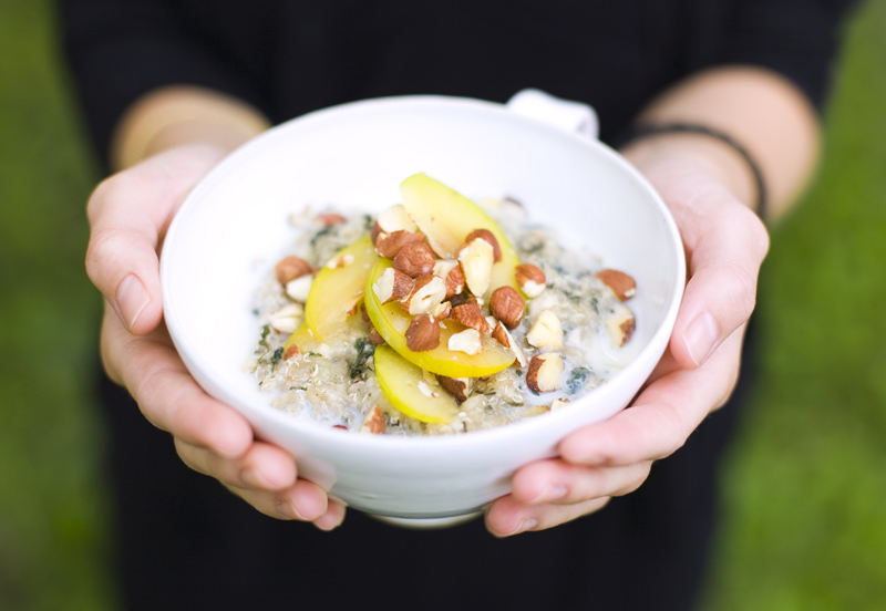 Quinoa Porridge with Nettles