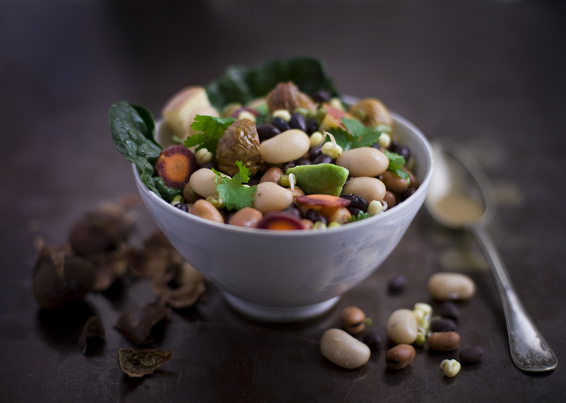 Bean, Tahini & Chestnut Salad