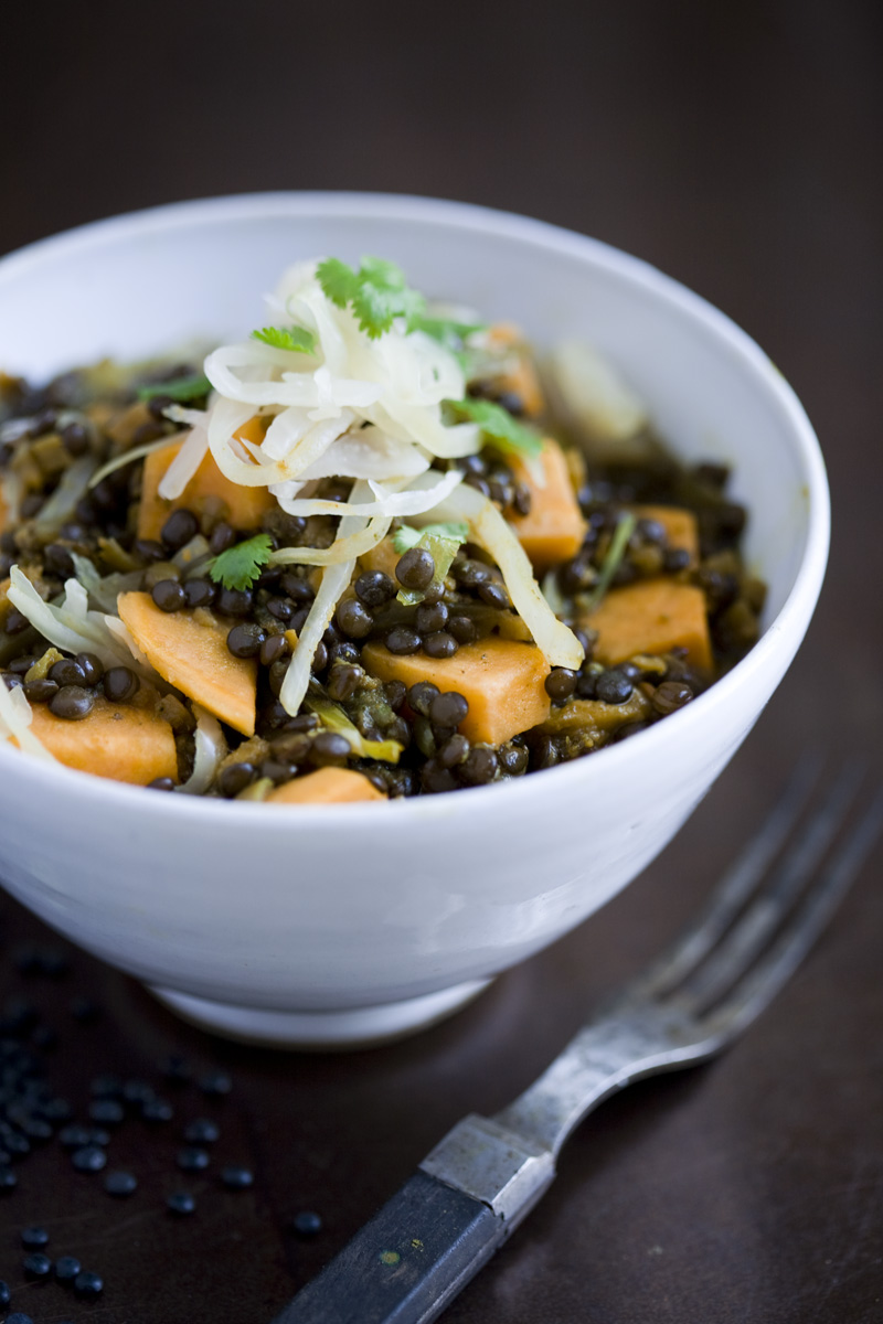 Green Kitchen Stories » Beluga Lentil & Sweet Potato Stew