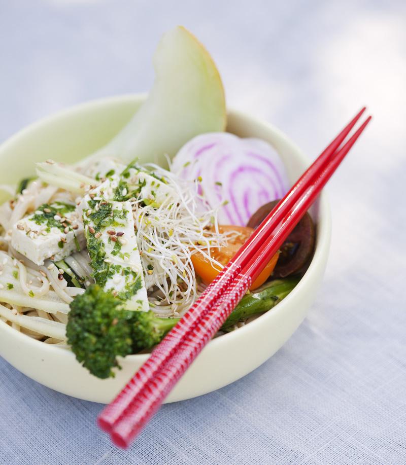 Soba Noodle & Herb Tofu Salad