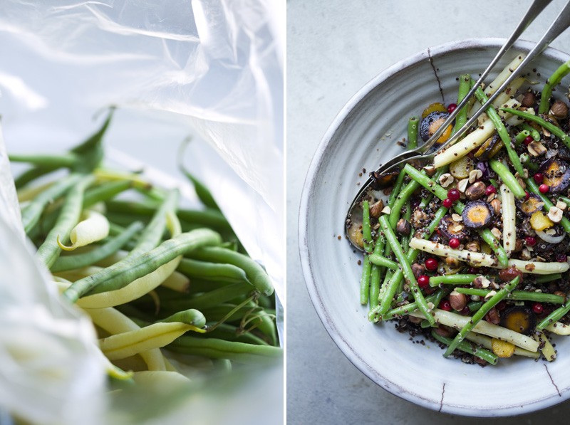 green bean s with red pepper dipping sauce green bean and quinoa salad ...