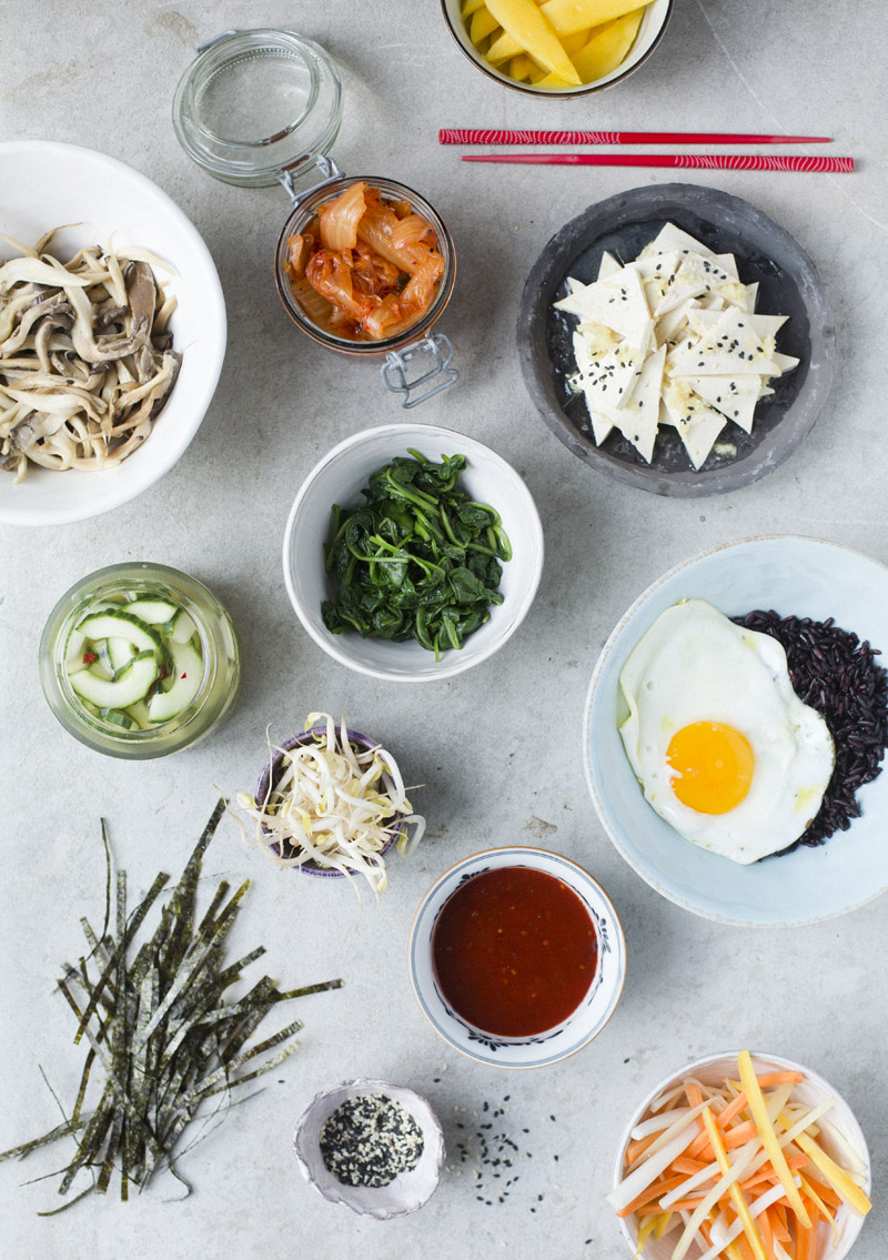 Green Kitchen Stories » Bibimbap with tofu & pickled ...