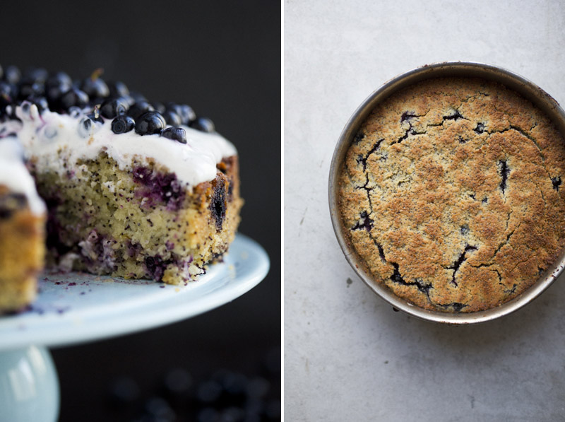 Blueberry Lemon Poppy Seed Almond Cake