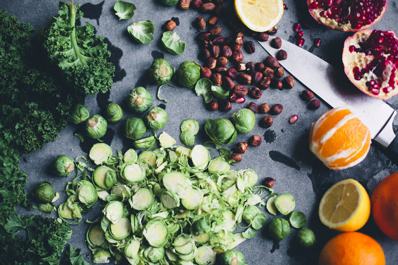 Shaved Brussels Sprout Christmas Salad