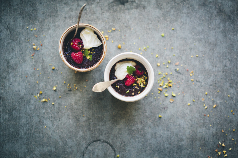 Almond & Chocolate Pots de Creme