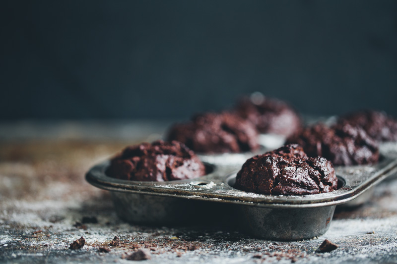 Chocolate Rye Muffins