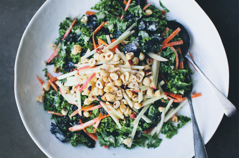 Autumn Kale Slaw + Movie Night