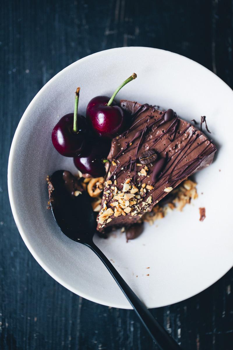 Mocha & Black Bean Mousse Cake