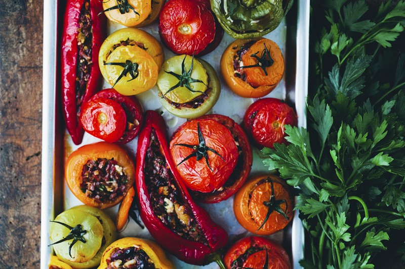 Gemista - A Rainbow of Stuffed Veggies