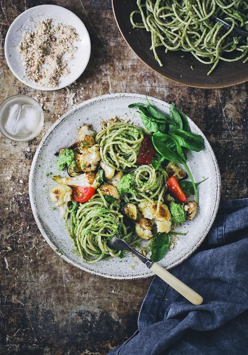 Green Kitchen Stories » Creamy Vegan Pesto Pasta & Cauliflower
