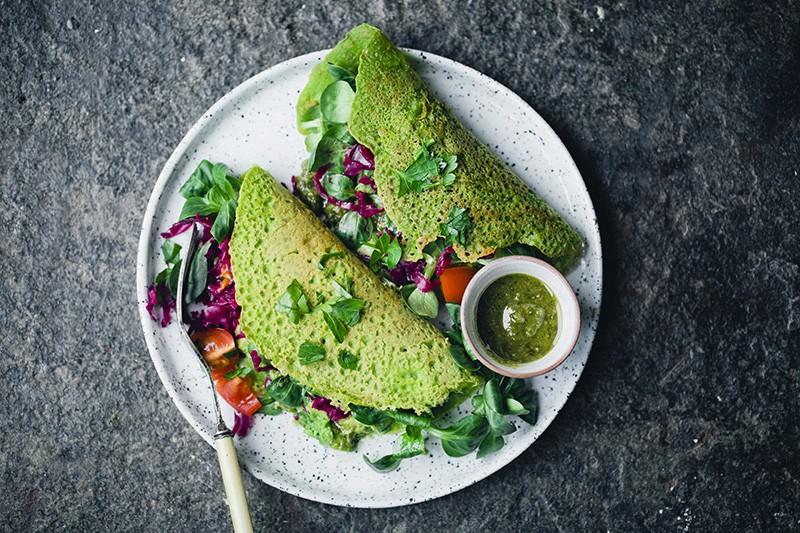 Green Kitchen Stories Green Vegan Chickpea Pancakes