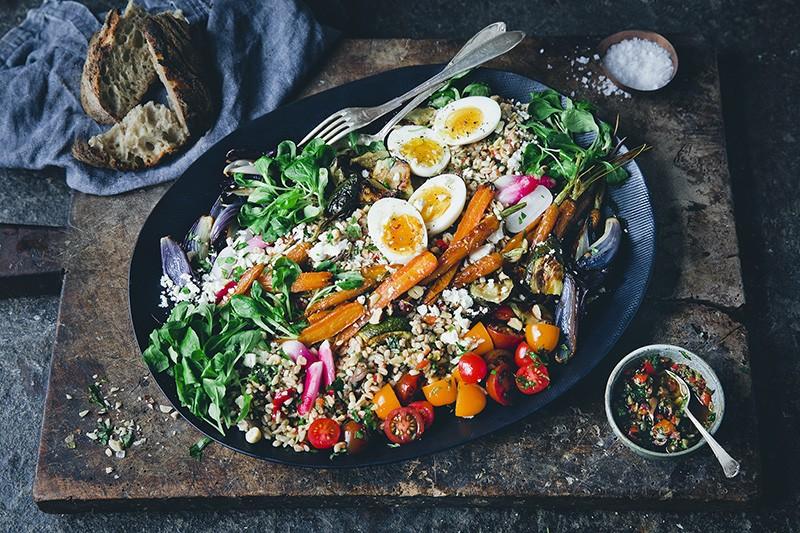 Roasted Veggie Grain Platter
